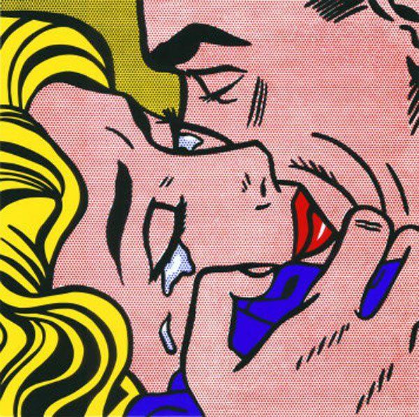 Roy Lichtenstein, Kiss V, 1964
