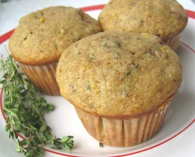 Lemon Ginger Thyme Muffins   desserts   Pinterest