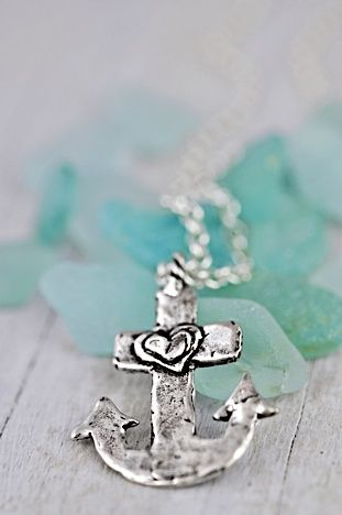 Anchor Necklace-Inspirational Jewelry-Anchor Jewelry-Nautical Necklace-Inspirational Necklace-Nautical Jewelry