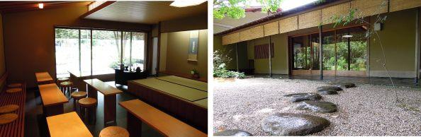 Indoor/outdoor view Shiontei tea house Hamamatsu