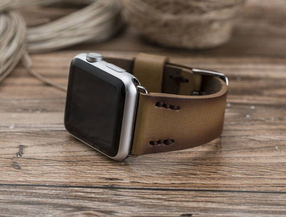 """Leather Apple Watch Band, 38mm, 42mm, iwatch band, Leather Apple watch strap, iwatch band 42mm, iwatch band 38mm, watch leather strap  THIS PRODUCT NAME IS DEEP-5  It is produced dedicatedly in order to fulfil your need. Its a perfect gift for husband, brother, father, friend and anyone you love and appreciate.   [ FEATURES OF DEEP-5 ]  • Suitable model : Apple Watch • Handmade item. • %100 Genuine leather. • Apple Watch band size : 38mm or 42mm • Dimensions; Long Track; Wide: 0.78"""" (2cm)…"""