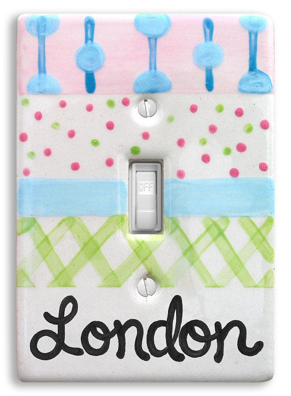 Personalized Light Switch Cover   Switch by LittleWormAndCompany, $15.00