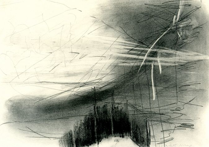 Gerhard Richter graphite and black pencil on paper 1985 21 x 29.7 cm