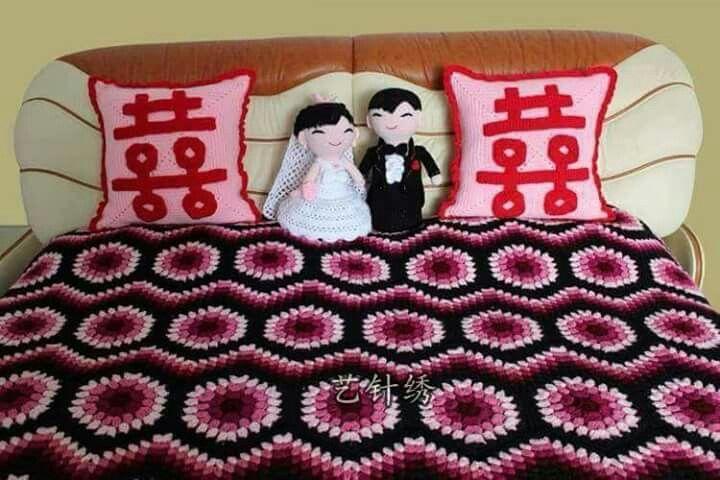 125 besten Mantas crochet Bilder auf Pinterest   Tagesdecke ...