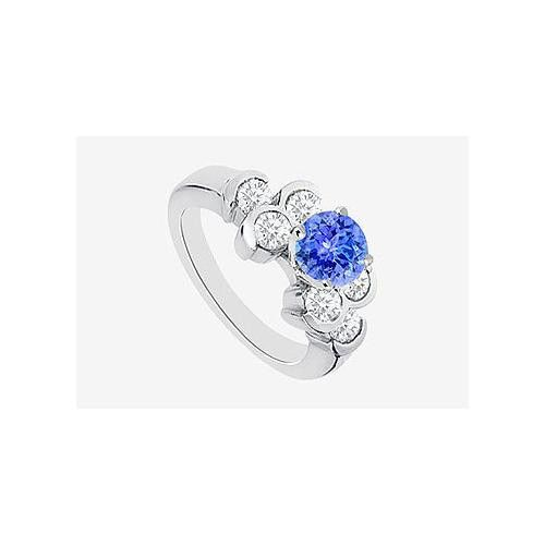 Angara Oval Tanzanite Solitaire Ring With Petal Motifs in 14k Rose Gold gWvUqTf