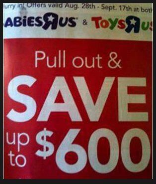 #BabiesRus & ToysRus pullout & save sign LetsGetWordy