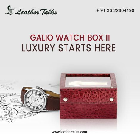 Prevent your priceless watches from getting misplaced by hoarding them in a safe crate. Get this #ostrichcherry coloured GalioWatch Box II at just Rs.3295. #storesuptosixwatches. #pureleather #highutility #perfectgift  http://leathertalks.com/product/galio-watch-box-ii/