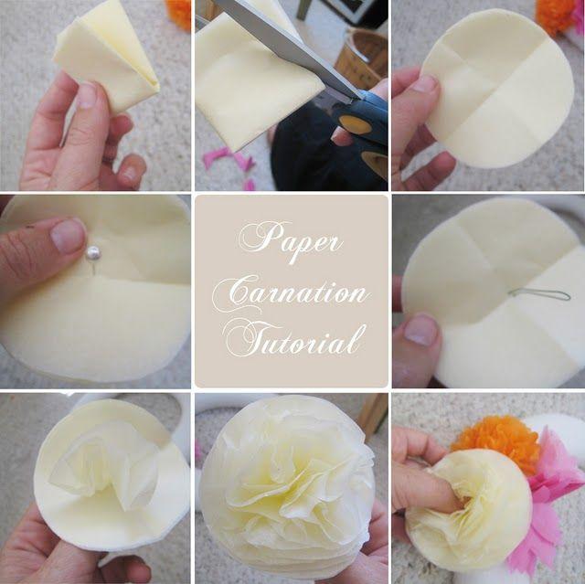 flor de papel circulo- muy facil