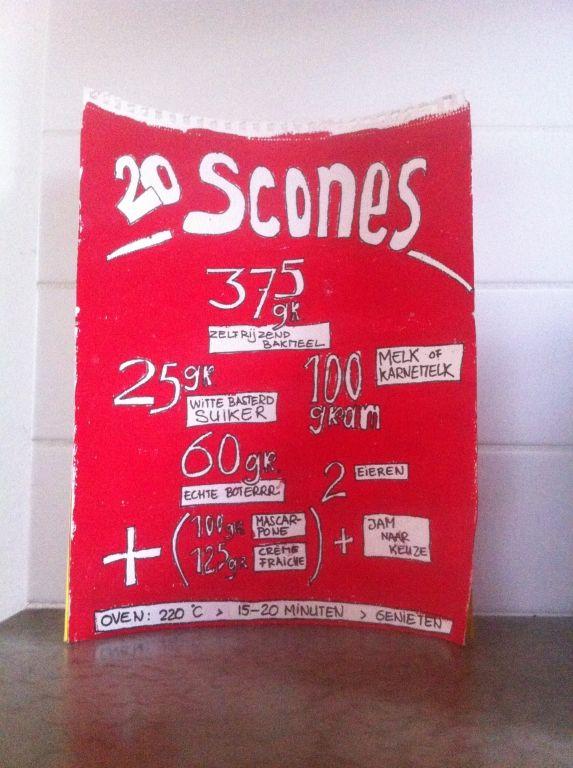 De scones-waardebon