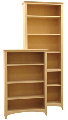 Large Variety Of Sizes Customized Options Shaker Solid Wood Bookcases