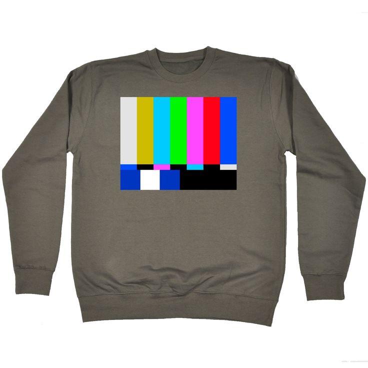 123t USA TV Colour Test … Block Design Funny Sweatshirt