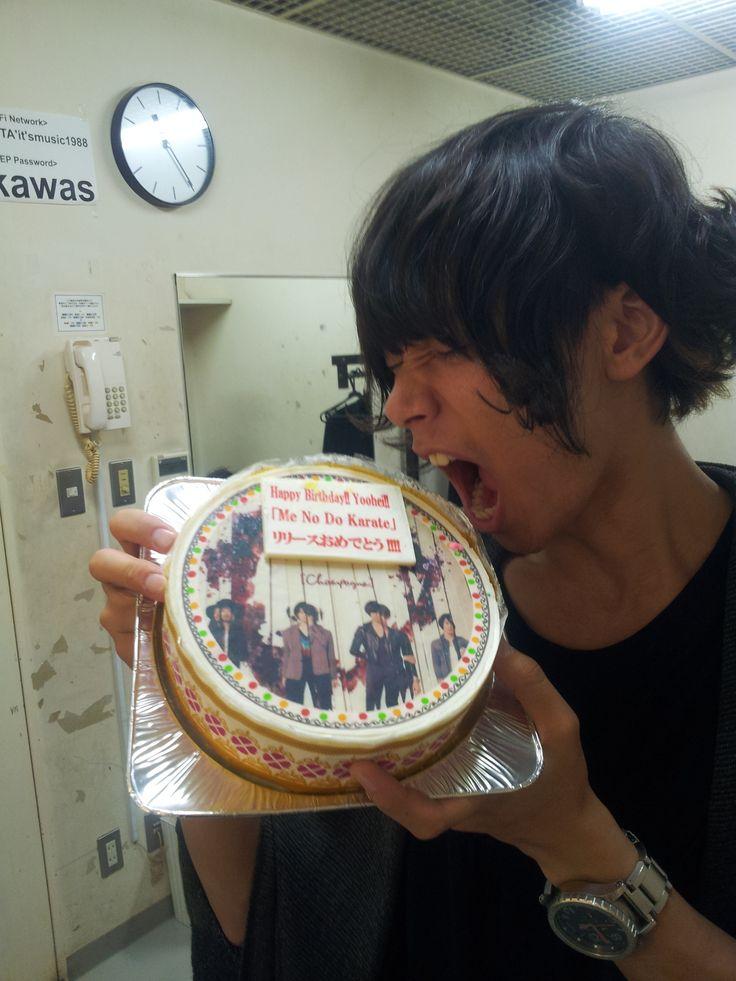 [Champagne]川上洋平2013/6/20【洋平くん誕生日!】スペシャWelcome![Champagne]収録!アルバム「Me No Do Karate.」ジャケのケーキでお祝い!6/26発売!名盤!