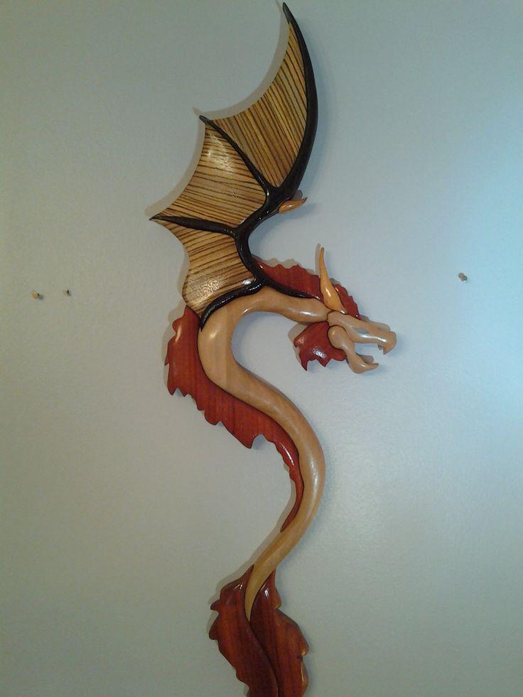 Dragon Intarsia | My Intarsia | Wood crafts, Woodworking ...