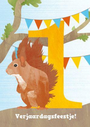 Feestje eekhoorn 1 jaar  1