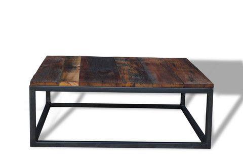 Square box coffee table