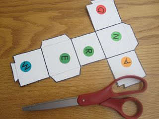 Name activities: Roll the dice and make your name. I'd use lowercase letters too.