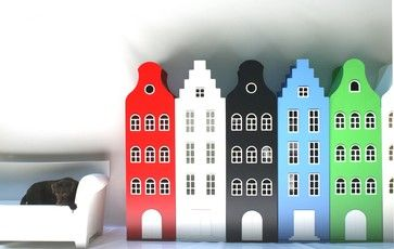 Dutch House Shaped Storage - eclectic - toy storage - Tulp Kids | houzz.com