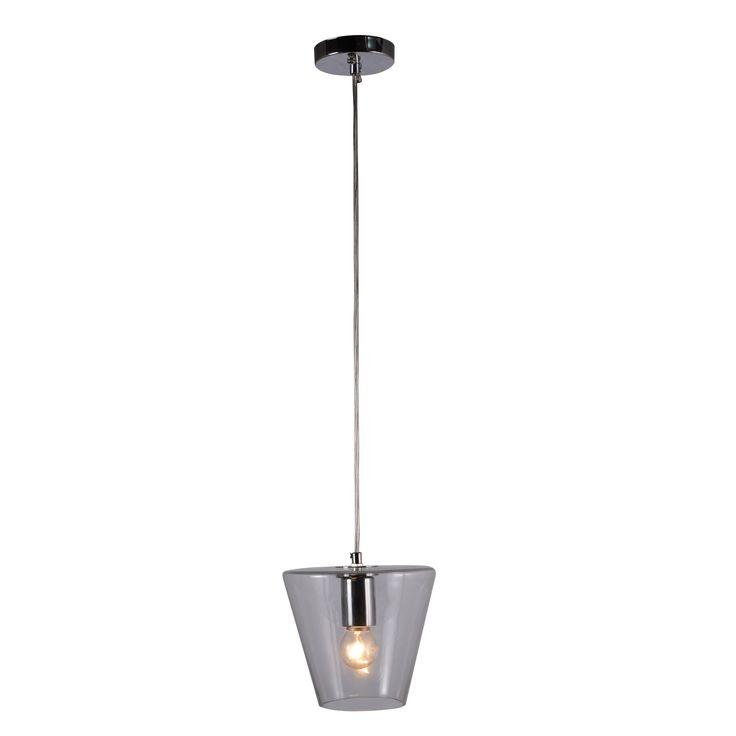1 light cone lamp modern pendant lamp clear glass pendant light