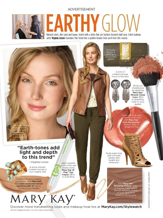 Natural colors like sand and taupe are a huge hit this season! Check out how to translate this trend into a fashion forward Mary Kay beauty look, in the September issue of People Style Watch, on sale now! http://www.marykay.com/tkampmeyer