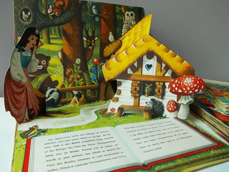 3 German Pop Up Books 1960s Vintage Children's Books :
