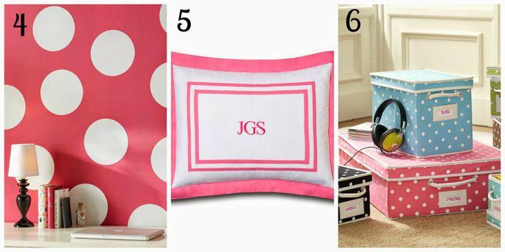 Preppy pink dorm decor #PBDorm #PotteryBarnDorm