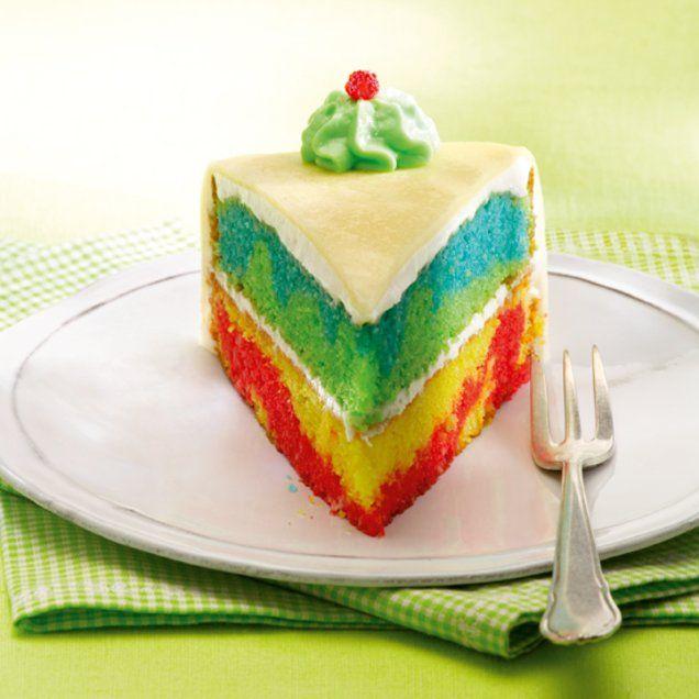 Süßer Regenbogenkuchen