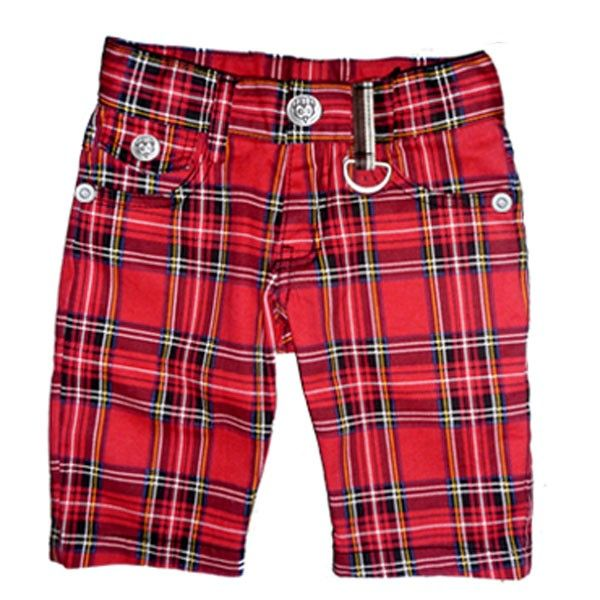 Punk Tartan Sk8er Shorts - Rock Your Baby {Y E S}