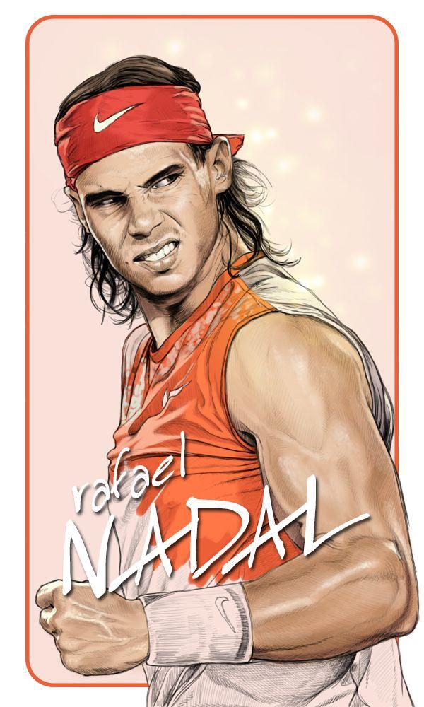 Diego Schirinzi - rafael NADAL - portraits illustrations
