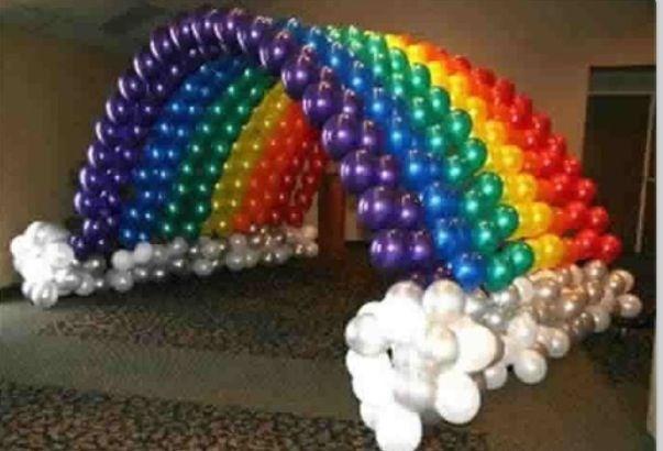 Balloon tunnel arch rainbow