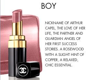 chanel rouge coco shine 54 'Boy'
