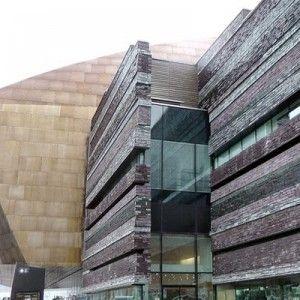 Миллениум Центр, Кардифф, Уэльс - При строительстве использовались природные, натуральные материалы, Сланец Welsh Slate, добытый на севере Уэльса, дерево, медь, материалы которыми богата Валлийская земля