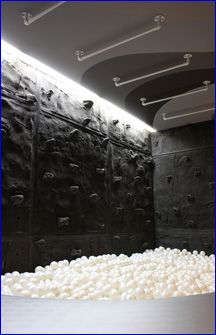 Media Room/ Playroom featuring Superior Rock Panels - For when I'm rich and have a huge house.
