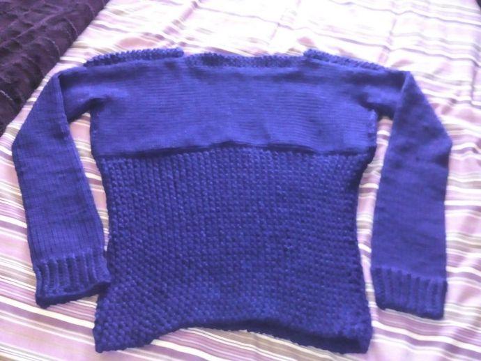 Jersey tejido en telar por Ana