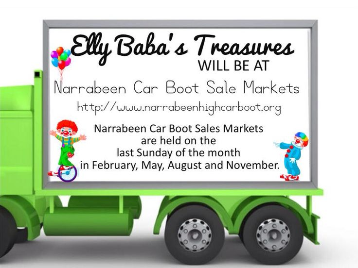 November 30th Sunday come down and enjoy a day at Narrabeen Boot Sales Market.  It's BIG, It's Fun, It's for everyone.  Come and check out my Elly Baba's Treasures at these Markets this Sunday from 7 am.