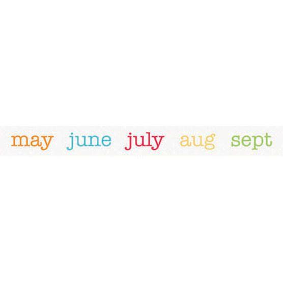 Doodlebug Take Note Washi Tape Calendar Of Color