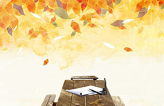 Hand-painted real background fall foliage pen and paper, Hand Painted, Fall, Leaves, Background image