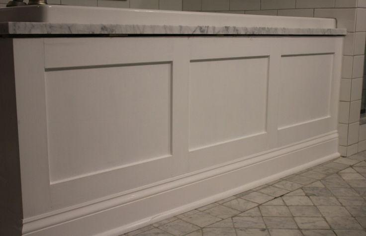 White paneled tub apron/ skirt