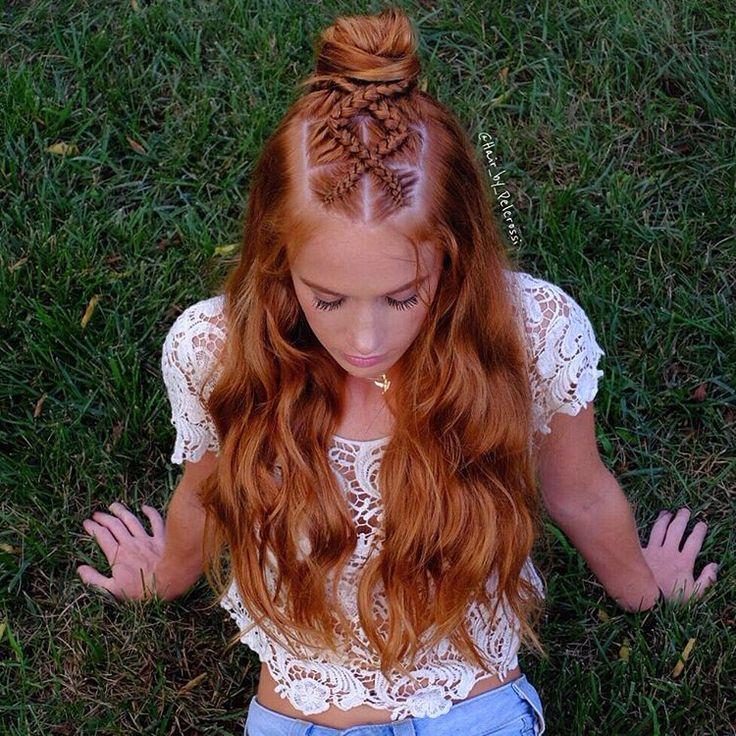 Half Up, Half Down Wedding Hairstyles | B+C