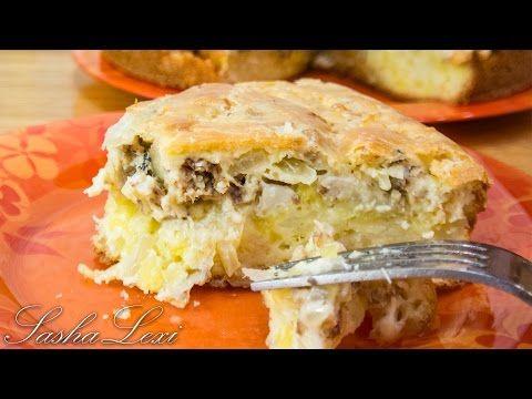 Заливной пирог с картофелем и сайрой - кулинарный рецепт