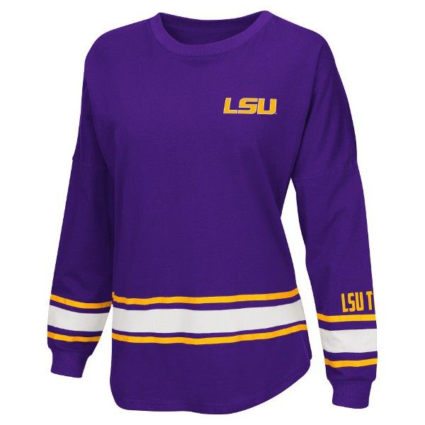 "LSU+Tigers+""All+Round""+Women's+Oversized+Tee+by+Colosseum"