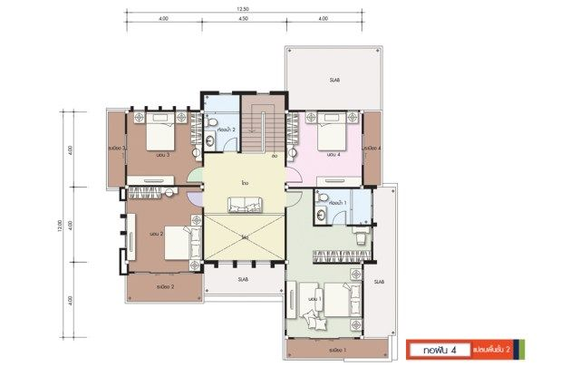 House Design Plan 14x14 5m With 6 Bedrooms Home Ideassearch Home Design Plans House Layout Plans Small Modern House Plans