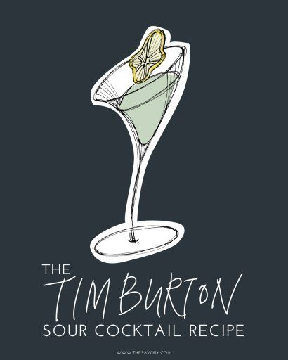 The Tim Burton Sour Cocktail Recipe 2 oz Death's Door White Whisky 1 oz Agar Agar Clarified Lemon Juice** .75 oz Simple Syrup Dehydrated Lemon Wheel for Garnish Stir all ingredients with ice for 40 repetitions and strain into a chilled coupe glass. Garnish with a slice of dehydrated lemon wheel.