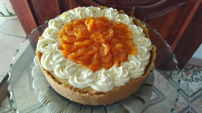 cheescake de mandarína y costra de naranja!!