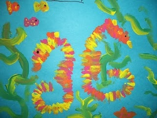 Grade 3 painting of sea horses: Sea Horses, Horses Fish, Seahorses Addiction, Painting, Hors Fish