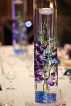 blue and purple orchid wedding ceremony - Google Search