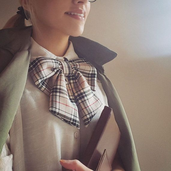 check pattern bow   https://www.etsy.com/ie/listing/465501494/womens-ascot-bowtie-check-pattern-tartan