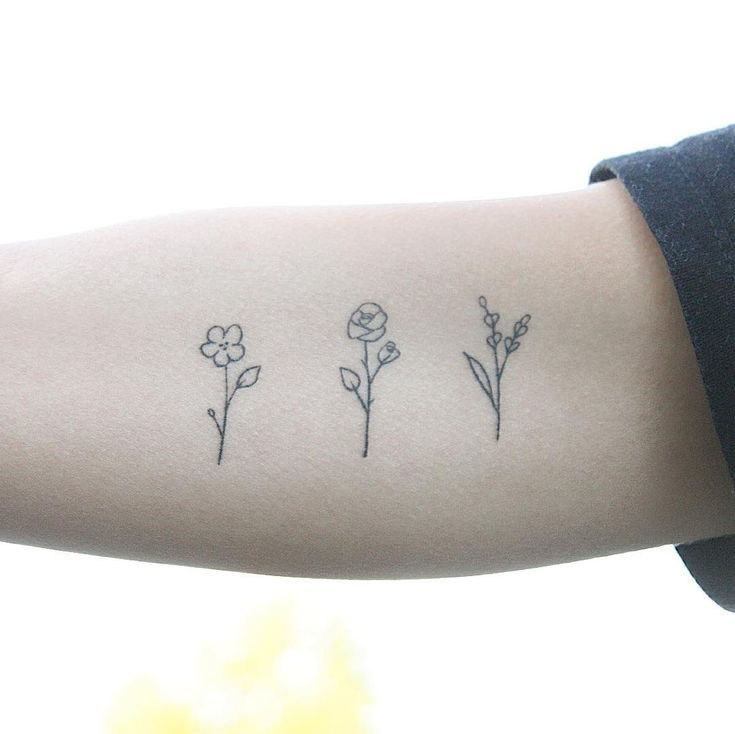 Simple and minimalistic tattoos can express your romantic nature.