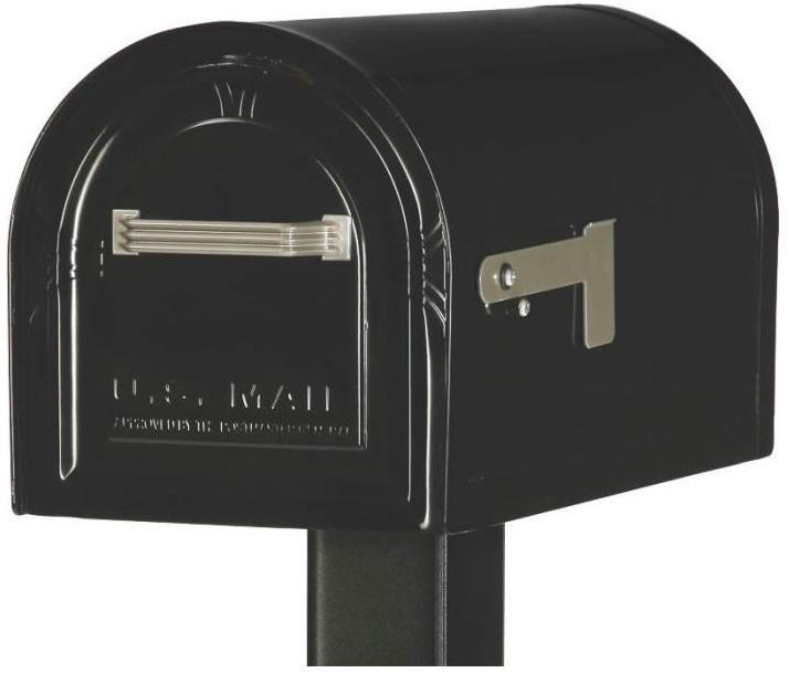 Gibraltar WM16KB01 Heavy Duty Lockable Mailbox T2, Black