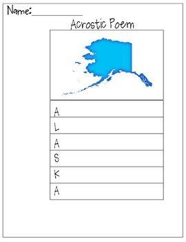 alaska acrostic poem alaska unit poems alaska worksheets. Black Bedroom Furniture Sets. Home Design Ideas