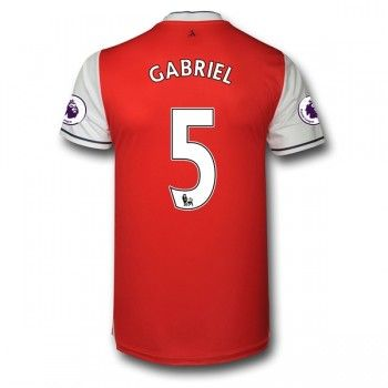 Arsenal 16-17 Gabriel Paulista 5 Hemmatröja Kortärmad   #Billiga  #fotbollströjor